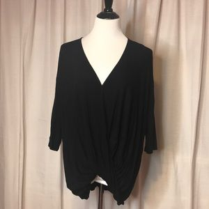 Michael Stars Black Crossover Blouse